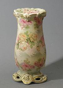 Royal Bayreuth White Rose Tapestry Hatpin Holder