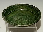 Chinese Green Glaze Han Dynasty Earthenware Deep Dish