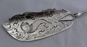 American Albert Coles Coin Silver Fish Knife New York