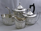 Kirk and Sons Sterling Silver 4 Piece Tea Set Engraved