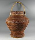 Antique Kalinga Rice Vegetable Carrying Labba Basket