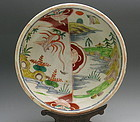 Large Japanese Ko Kutani Porcelain Bowl, Late Edo