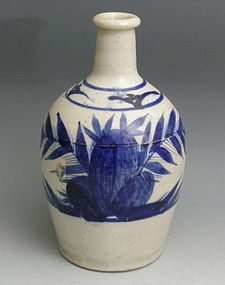 Japanese Blue White Tokkuri Imari Arita Sake Bottle