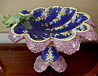 Large Scalloped Majolica Compote Bowl Center Piece