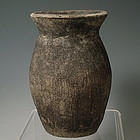 Neolithic Period Qijia Culture Combed Pottery Jar