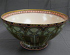 Large French Limoges Art Nouveau Porcelain Punch Center Bowl