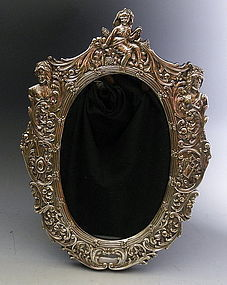 Large Ornate English Sterling Silver Picture Frame