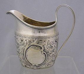 Antique Georgian Sterling Silver Creamer Pitcher, Circa 1820-30
