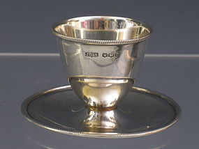 Antique James Deakin & Sons Sterling Silver Eggcup British