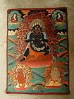 19th C Tibetan Buddhist Thangka of Mahakala 4 Deity Figures Thanka