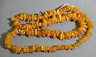Vintage Baltic Butterscotch Amber Necklace, 27 inches