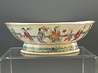 Large Chinese Porcelain Footed Bowl with People, Guangxu