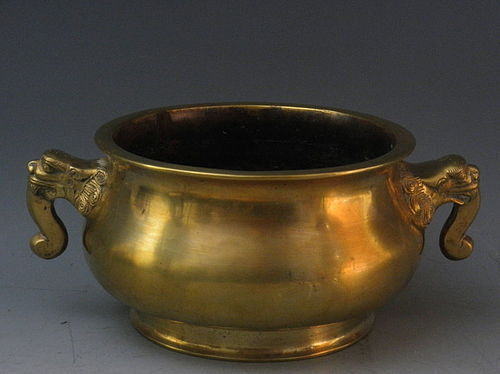 Antique Chinese Bronze Censer with Xuande Mark