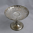 Wang Hing Sterling Silver Pierced Engraved Chrysanthemum Compote