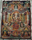 Antique Tibetan Thangka Painting Bodhisattva Tara, Karmapa Blessed