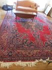 Large Vintage Iranian Red Mashad Wool Rug