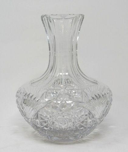 Unusual Shape American Brilliant Cut Glass Carafe