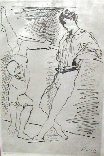 Pablo Picasso's Grace et Mouvement Original Engraving, 1943