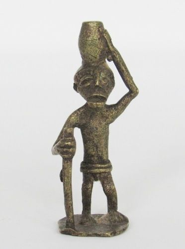 Small Brass Ashanti African Gold Weight from Ghana