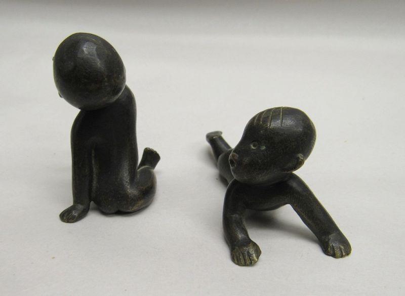 Pair of Art Deco Hagenauer Austrian Miniature Black Babies