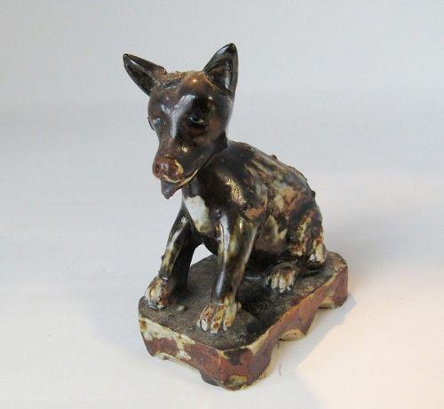 Antique Chinese Porcelain Dog Joss Holder