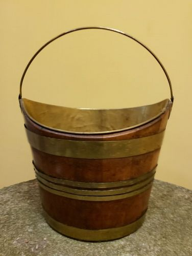 George III Navette English Peat Bucket, 18th Century