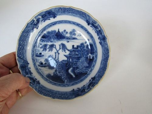 Fine Chinese Porcelain  Blue and White Dish, Circa 1850