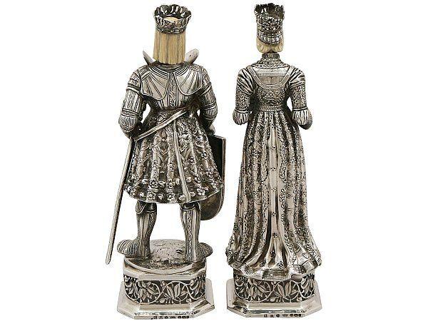 RARE Berthold Muller Sterling Silver Duke and Duchess Figurines