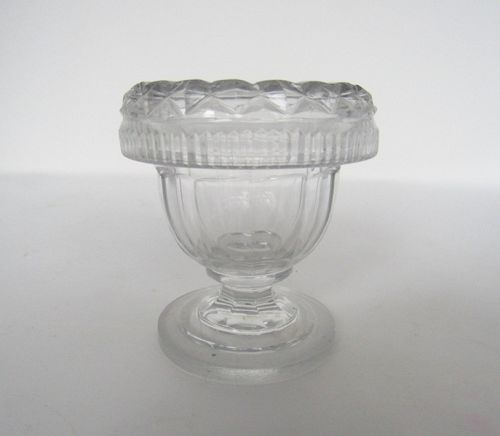 Antique Irish Waterford Cut Crystal Footed Master Salt