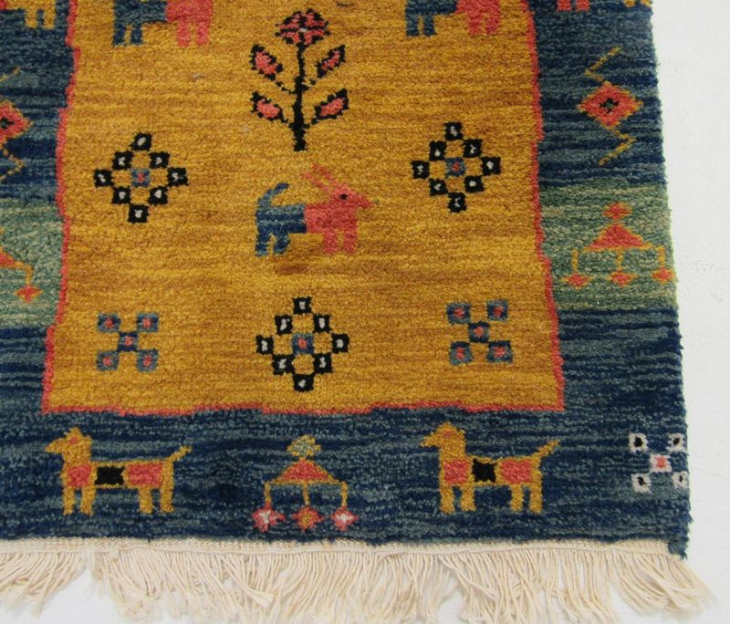 Vintage Handmade Kilim Geometric Animal Pictorial Tribal Rug