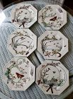 Victorian Aesthetic Period Copeland Transfer Ware Luncheon Plates