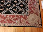 Vintage Needlepoint Monkey Rug Carpet with Monkeys