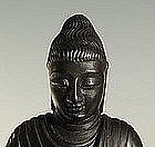 Extremely Rare Chinese 18th C Zitan Wood Buddha