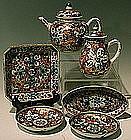 Exquisite Chinese Kangxi Export Tea Set, Rare