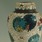 Unique Little Cloisonne Tea Caddy, Meiji Era