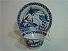 Kangxi to Yongzheng  Tea Bowl and Saucer with Cranes