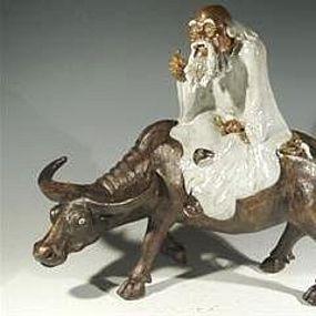 Chinese Shekwan Mudman, Lao Tzu Riding Ox