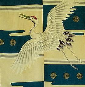 Mid 1930's Japanese Child's Silk Kimono
