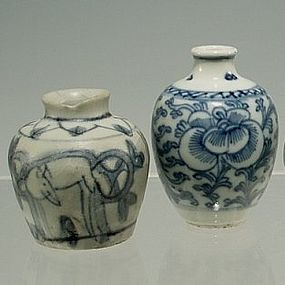 Chinese Jiajing, Ming Blue and White Jarlets