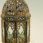 Antique Pierced Metal Opium Den Lamp, Chinese