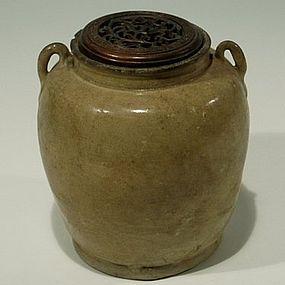 Rare Chinese Changsha Kiln Jar, Tang Dynasty 9th C