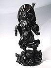 Chinese Hardwood Statue of Buddhist Damo, Bodhidarma