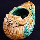 Chinese Scholar's Sancai Porcelain Duck Water Coupe