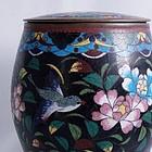 Japanese Cloisonne Tobacco Jar, Meiji Era
