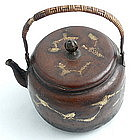 Chinese Copper Teapot with Gold Splash Design, Qing Dy