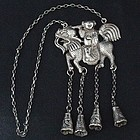 Chinese Ethnic Minority Silver Necklace with Kylin