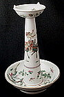 Famille Rose Candle Holder, 19th C