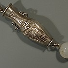 19th C Chinese Silver Chatelaine Needle Case