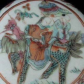 Scholar Seal Paste Porcelain Box with Kylin