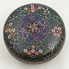 Edo Era Japanese Cloisonne Enamel Bronze Box